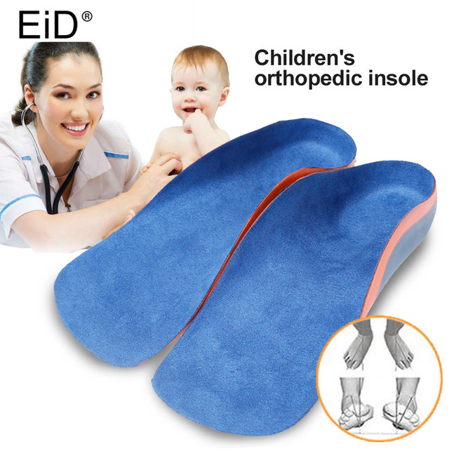 Ортопедические стельки EID для детей, ортопедические подушки из ЭВА с поддержкой стопы для плоскостопия, уход за здоровьем ног, вставки для обуви