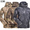 Tactical Snake Camouflage Army Jacket Men Military Shark V4.5 Waterproof Softshell Hunter Jackets Fleece Hooded Camo Clothes