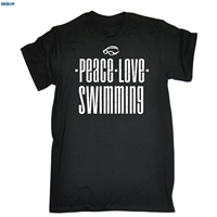 GILDAN PEACE LOVE SWIMMINGer T SHIRT Swimer Accessories Team Funny Birthday Gift 123t T Shirt Men