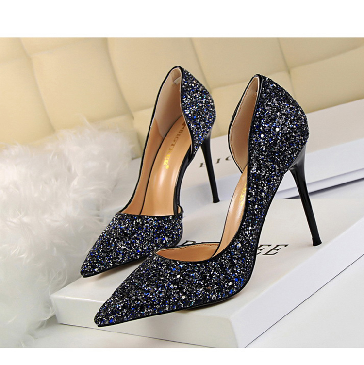 Women Pumps Sexy Glisten Women Shoes Wedding Party Dress Heels Women Hollow Shallow Mouth High Heels Stiletto 868-8 15