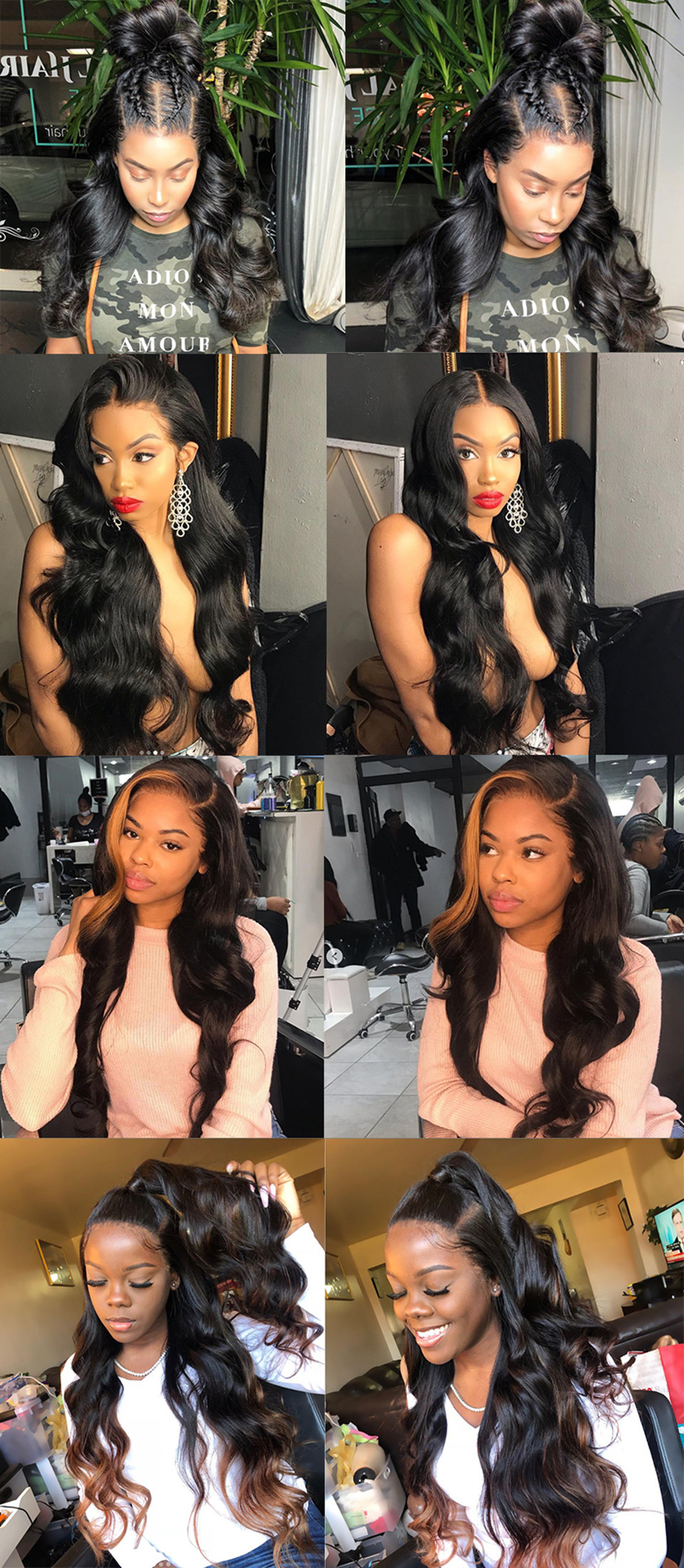 body wave lace human hair wig