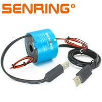 Through hole USB slip ring with 2 circuits 10A hollow shaft 12.7mm