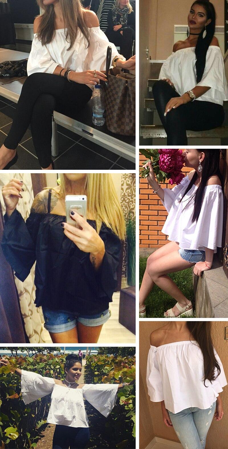 HTB1TpNINVXXXXXNapXXq6xXFXXXy - Sexy off shoulder white blouse women Ruffle PTC 95