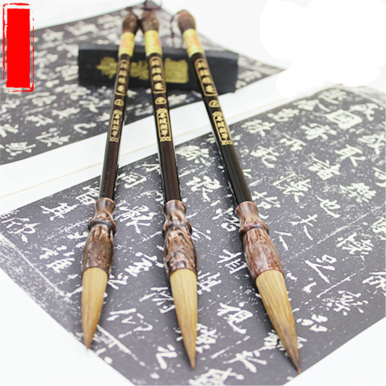 Chinese calligraphy brush pen painting art brush weasel hair brush pen writing smooth calligraphy pen caligrafia brush chancery minimal japanese calligraphy brush line brush rabbit hair writing brush pen calligraphy painting art supplies stationary