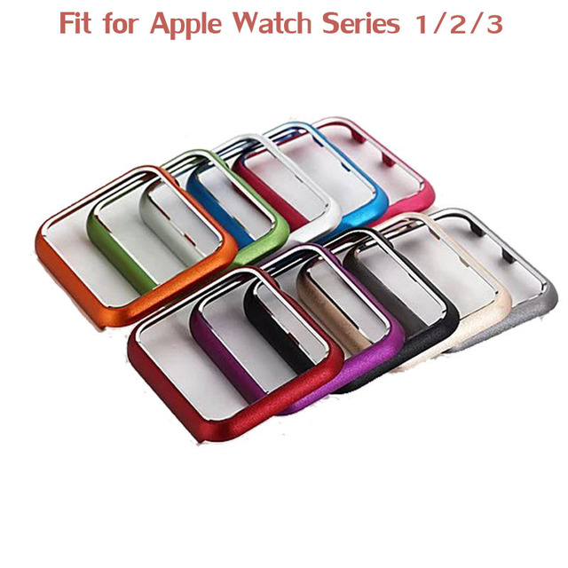 new styles fdf5b ac3ce US $6.85 40% OFF|Hard Bumper Case for iWatch Apple Watch Series 3 2 1 42mm  38mm Colorful Protective Cover Aluminum Alloy Metal Watch Cover Band-in ...
