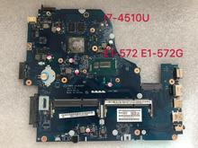 Z5WAH LA-B162P NBMLC11005 NB. I7-4510U E1-572 E1-572G MLC11.005 Para Acer ASPIRE laptop motherboard 840 M