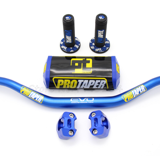 "Handlebar PRO Taper Pack Fat Bar 1-1/8"" Dirt Pit Bike Motocross Motorcycle Handlebar 810mm length 28mm PRO aluminum 1"