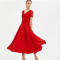 red standard ballroom dress women social dress spanish flamenco dress foxtrot waltz dresses dance wear modern dance costumes