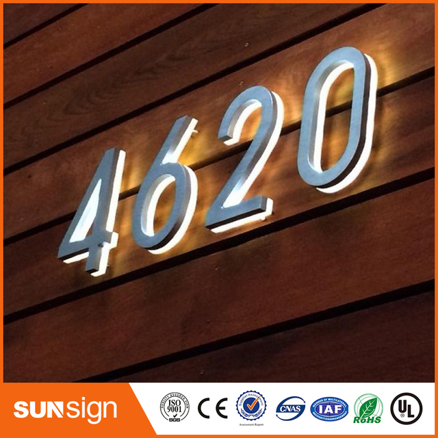 High Quality Custom Top Quality Bright House Number Light