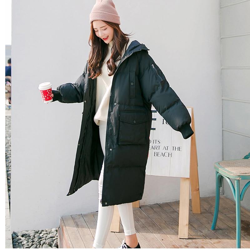 HOT 2018 New Women Korean cotton long   parkas   coat oversize cotton winter jacket coat women's Thicken warm outerwear coats d028