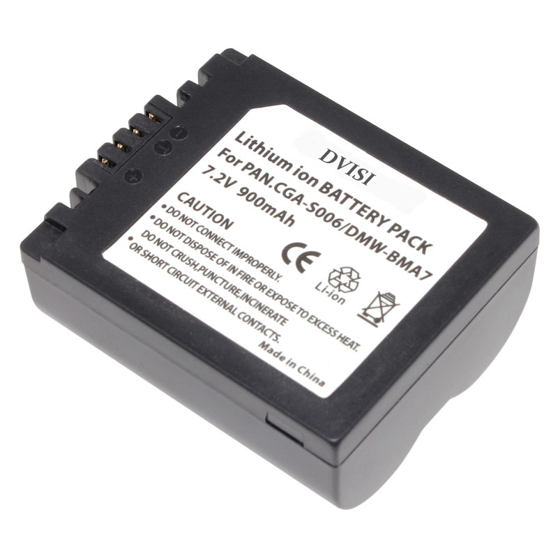 1Pc CGA-S006 CGR CGA S006E S006 S006A BMA7 DMW BMA7 Rechargeable Battery for Panasonic DMC FZ7 FZ8 FZ18 FZ28 FZ30 FZ35 FZ38 FZ50 ...