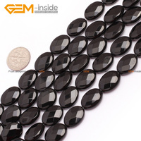 Oval Faceted Top Grade AA Black Agate Onyx Beads Natural Stone Beads For Diy Bracelet Jewelry