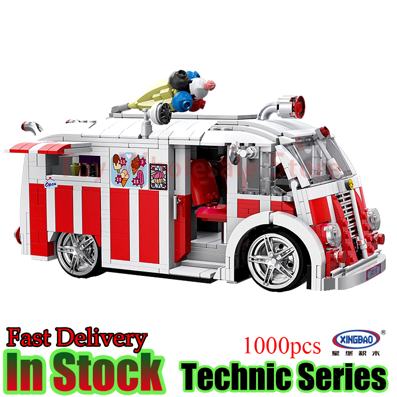 Xingbao 08004 Technic Series The Ice Cream Car Building Blocks Bricks Toys For Kids sueway 100% 08004