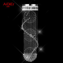 Europe chandelier villa penthouse floor living room stairs crystal Bedroom lights chandelier lamp hotel project Dia600xH2800mm