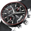 NIBOSI Men Watch Top Brand Luxury Male Leather Waterproof Sport Quartz Chronograph Military Wrist Watches Men