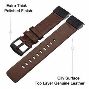 Image 3 - Quick Fit Genuino Cinturino In Pelle 20/22/26mm per Garmin Fenix 5X/5X Plus/5 s/5/3/3HR/Forerunner 935 Watch Band Cinturino Bracciale