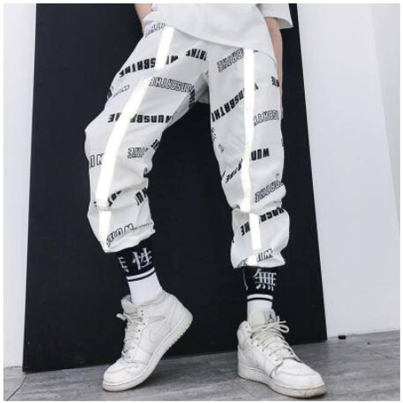 Harem Pants Joggers Men Funny Harajuku Streetwear Loose Summer Fashion Male