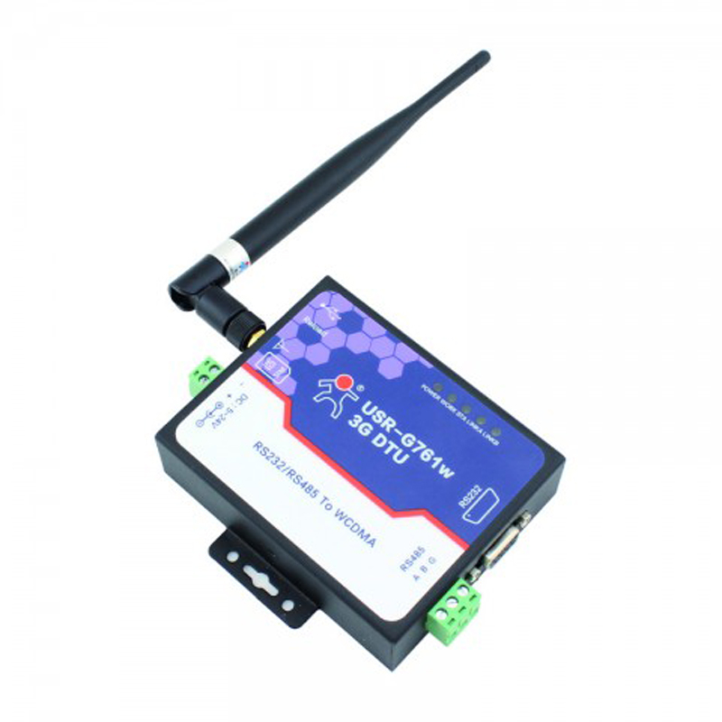 Q100 USR-G761W 3G DTU WCDMA Modem Serial RS232 / RS485 to WCDMA Network Support TCP and UDP, HSDPA,  HTTPD Mode