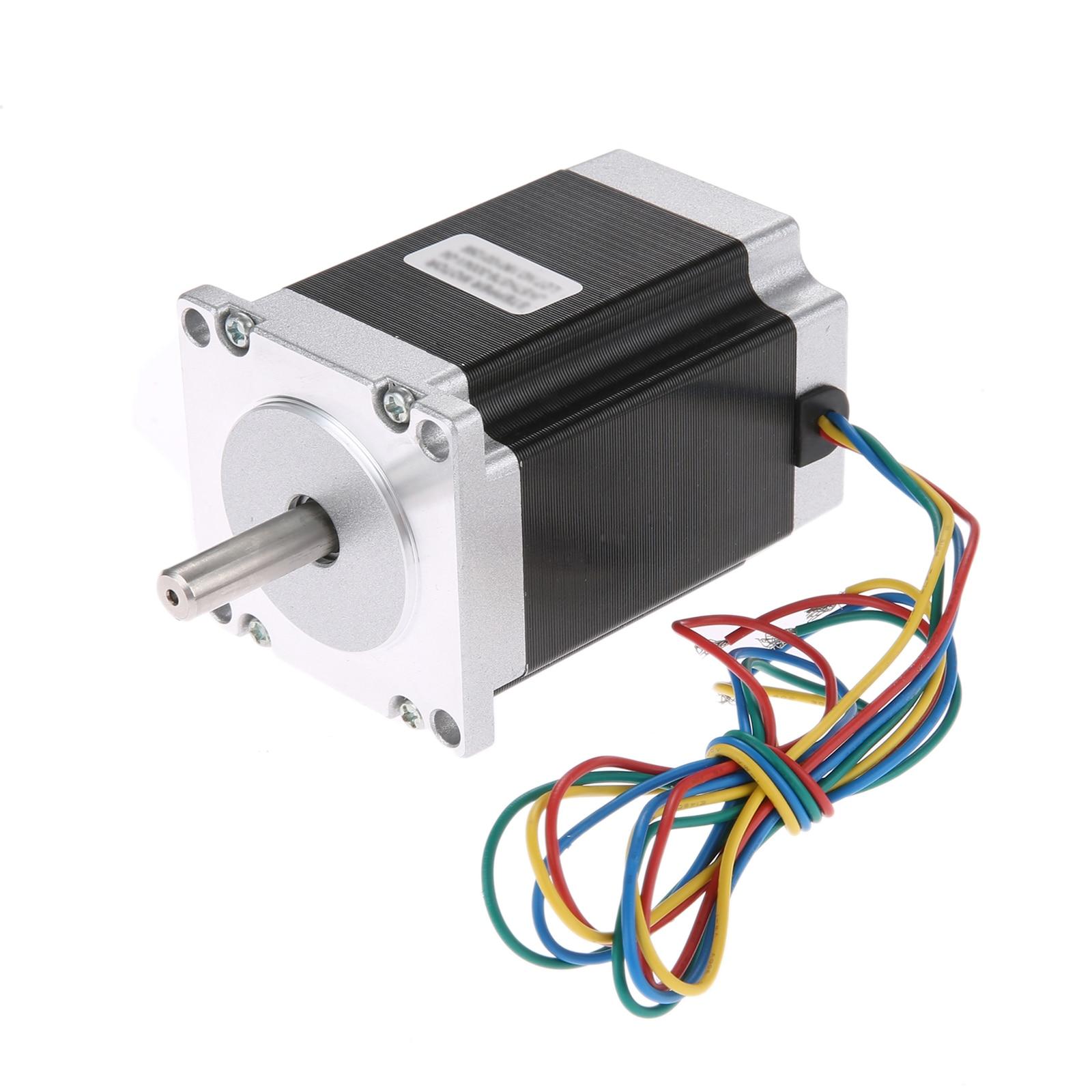 Moteur pas à pas NEMA23 57x82mm 1.8 degrés 2 phases 3A 4-lead Nema23 moteur pas à pas pour imprimante 3D/Machine de gravure de routeur de CNC 2.2N.m