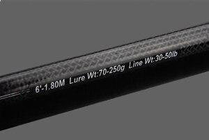 Image 5 - Superhard carbon spinning เรือ jigging lure fishing rod สั้น hard travel stick lure wt: 70 250g wt: 30 50lb สำหรับทะเล