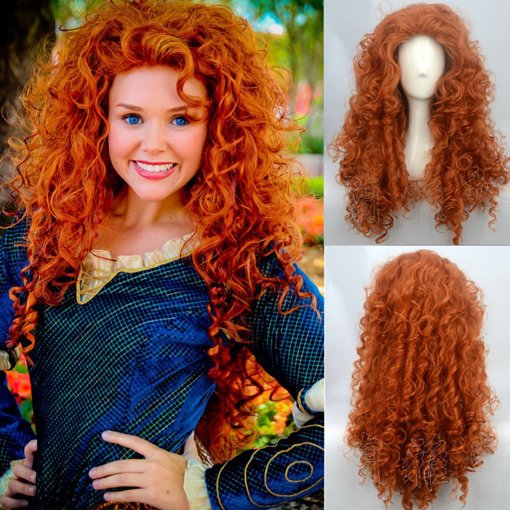Big Discount Fashion Brave Merida Costume Wig Curly Wavy Orange Hair  Cosplay Party Long Wig on Aliexpress.com  82f4abed1