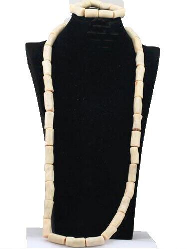 Perles de corail blanc africain de luxe ensemble de bijoux de mariée femmes mariage nigérian collier de fiançailles Bracelet perle livraison gratuite CG029