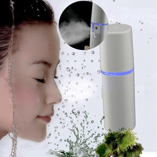 2016 Rechargeable Lipstick Shape Nano Facial Mist Spray Portable Face Steamer Hydrating Skin Care Ultrasonic Cleaner Instrument
