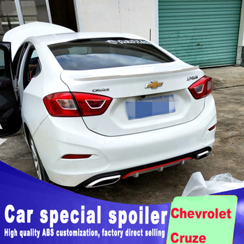 цена на 2017 2018 new design rear trunk wing spoiler for Chevrolet Cruze high quality and hardness ABS material by primer or black white