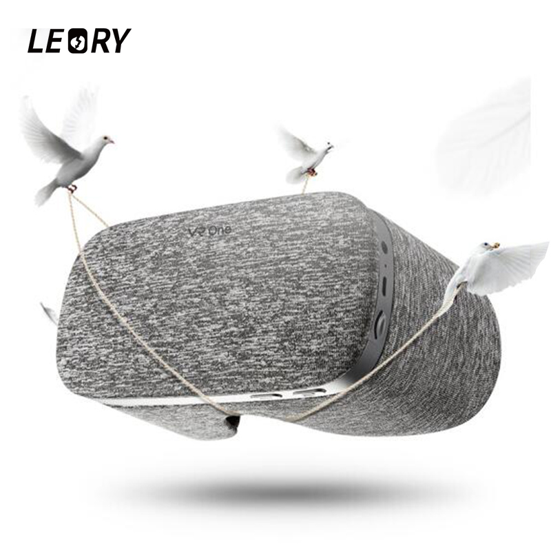 LEORY 5.5Inch Cloth VR Glasses Bluetooth Light Breathable Hardware Acceleration VR BOX 3D Glasses With USB TF Card WiFi 4KOutput