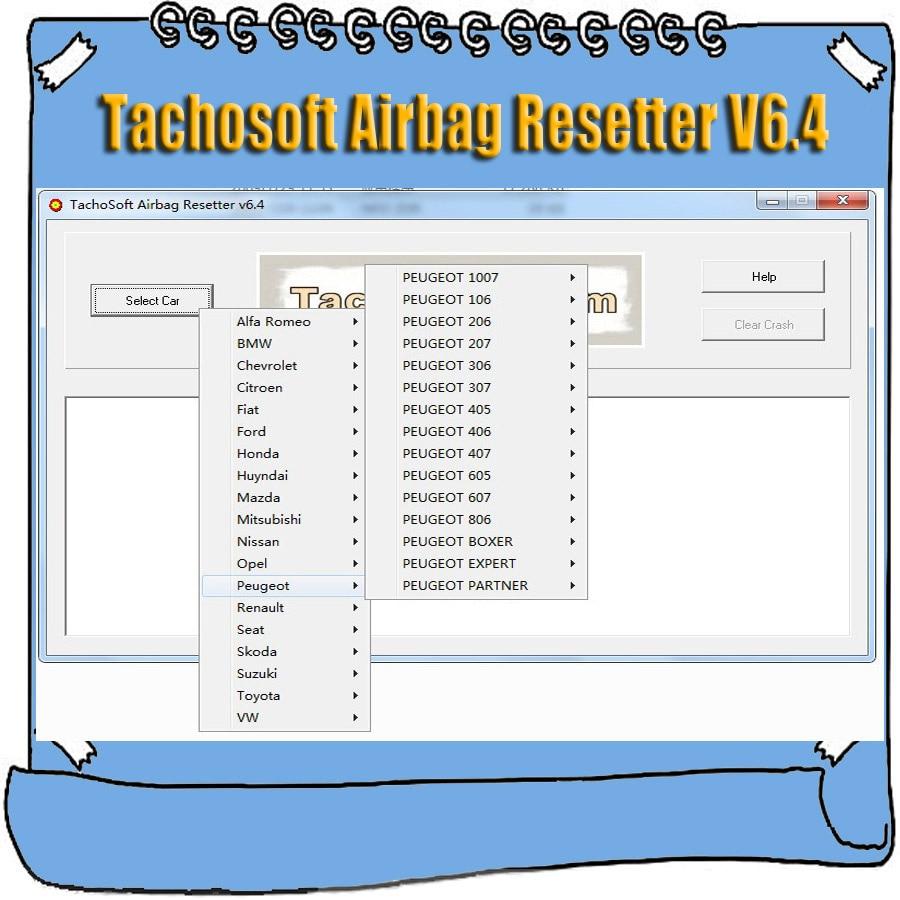 Newest Tachosoft Airbag Resetter V6 4 for Deleting Crashdata from Airbag ECU Dumps