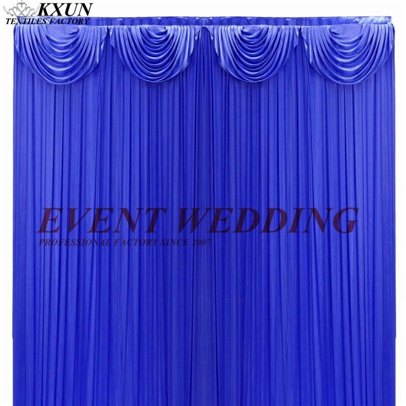 Le rideau de toile de fond de mariage de soie de glace de Ruffeld incluent le Swag supérieur pour la décoration de partie d'événement