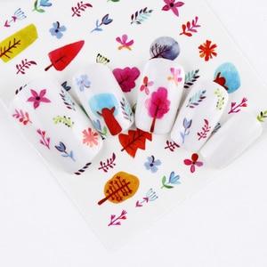Image 5 - 1 Sheet Pink Diamond Milk Lipstick Partten Nail Decals Nail Art Water Transfer Sticker Polish Wraps Beauty Accessories BEWG2107