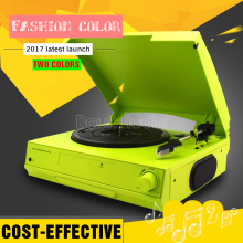 Douk Audio Colorful 3-Speed Home Turntables Modern LP Vinyl Recorder Phono Player Built-in Stereo Speakers Headphone/Line Out