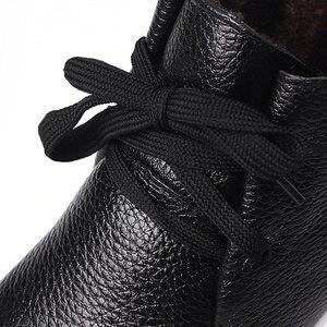 Image 5 - AARDIMI Botines cálidos de piel auténtica para Mujer, botas clásicas con cuña, para invierno