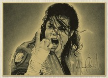New Arrival Michael Jackson MJ Singer Music retro vintage ROCK poster old paper posters wall chart sticker 42x30cm