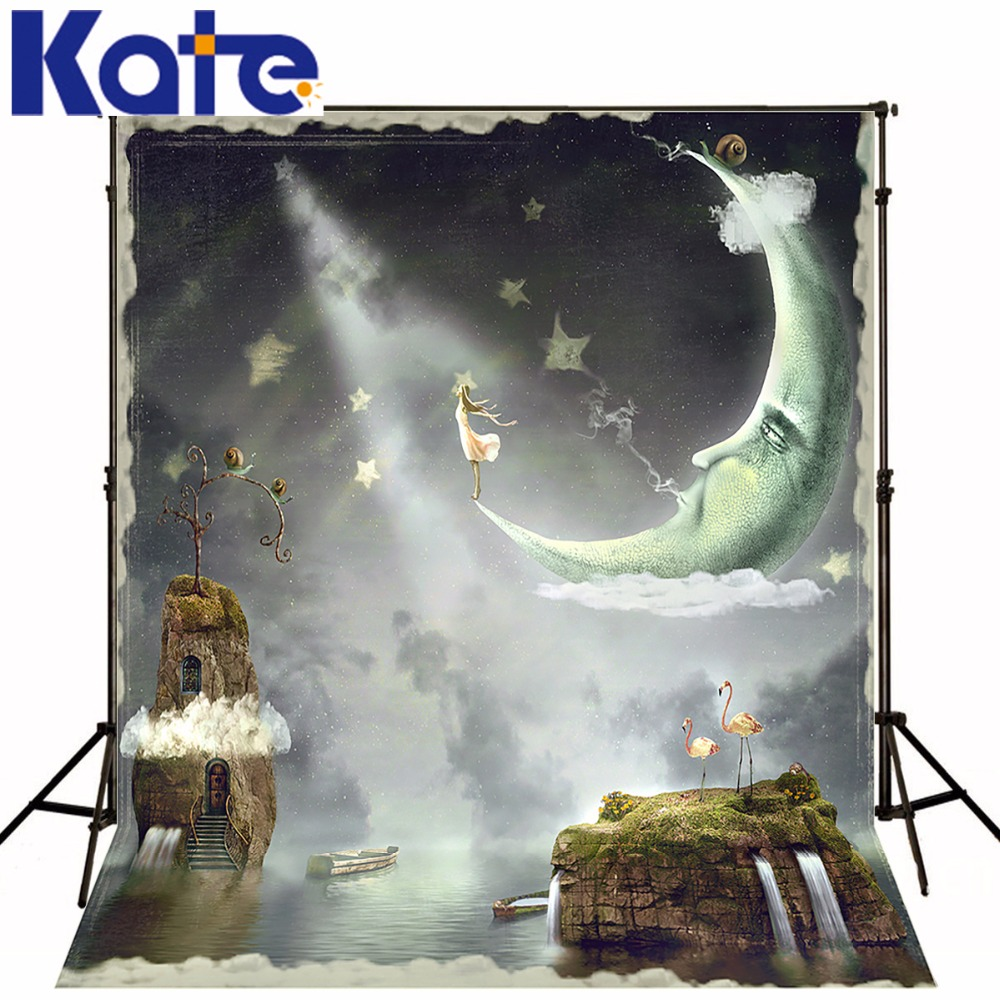 Kate Photo Background  Children Photography Gorgeous Sky Beautiful Ink Sea Moon Island Ye Photography Studioyy00711 сумка kate spade new york wkru2816 kate spade hanna