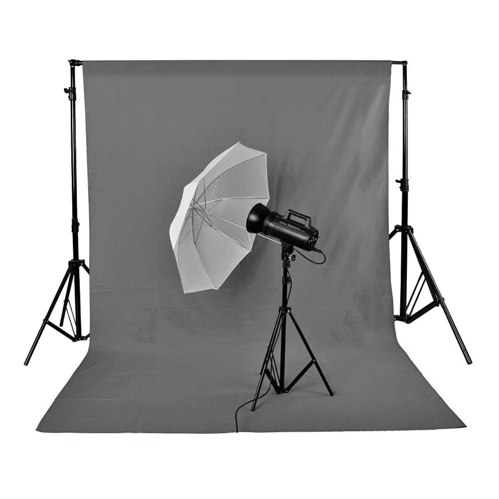 Neewer 3x6 M/10 x 20ft Photo Studio 100% fond de toile de fond pliable en mousseline Pure gris