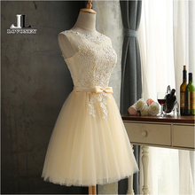 LOVONEY Robe Cocktail Party Dress 2017 Elegant Backless Short Cocktail Dresses Adjustable Lace Up Back Prom Dress CH604B