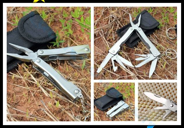 Outdoor Fishing Camping Equipment Multitool Mini Tools Knife Pliers Swiss Army Knife Portable Multi-tool Kit With Case