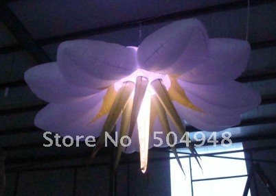 Hanging Inflatable Lighting Flower for Party Decoration. lighting inflatable flower for wedding decoration