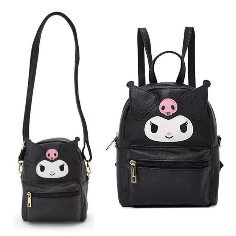 Japan Cinnamoroll Women/'s Handbag Waterproof PU Shoulder Bag Zipper Backpack