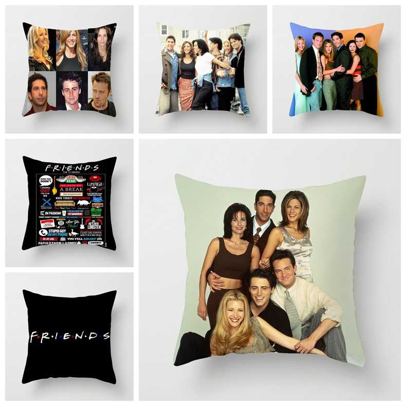 ZENGIA Friends TV Show Cushion cover 45x45cm Polyester Friends Pillow cover 30x50cm Joey Tribbiani Throw Pillow Case Home Decor