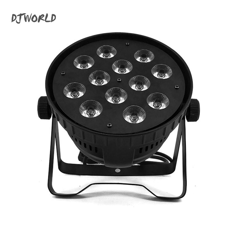 Aluminum alloy LED Can Par 12x18W RGBWA+UV Colour Lighting DMX512 Channels For Event KTV Disco Party Nightclub Ballroom Stage