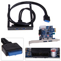 2 Portas USB 3.0 PCI Express Card + 3.5 Motherboard Painel Frontal Disquete Bay Para Windows XP/Vista/Windows 7 Novo de Alta Qualidade