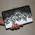 New women diamonds luxurious top evening bags clutch messenger shoulder chain handbags with acrylic purse wallet
