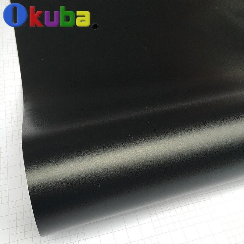 En cuir Motif PVC Vinyle Adhésif Film Autocollants De Voiture Décoration En Fiber De Carbone Film Vinyle Wrap Bulle D'air Étanche PVC
