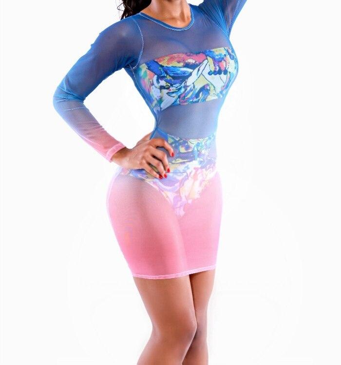 4acd5d1d2c56b Sexy Slightly see through mesh bikini swimwear bathing suits cover ups  wholesale beach bandage bodycon swimsuit dress for women on Aliexpress.com    Alibaba ...