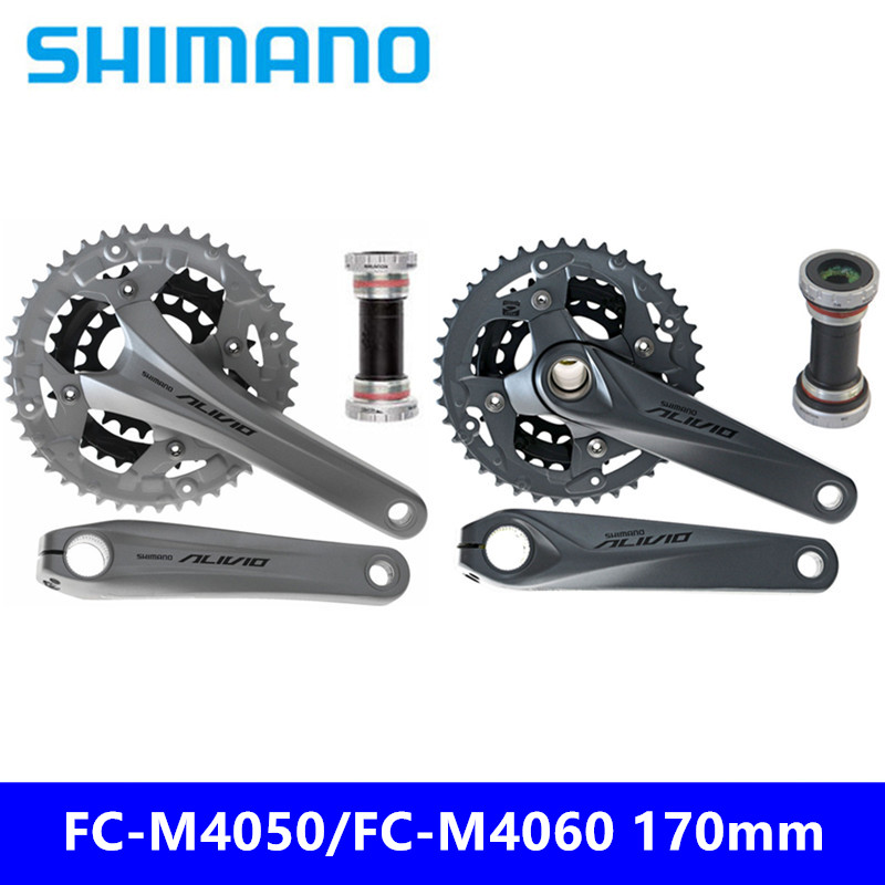 Brand New Original Authentic Shimano Alivio Fc-m4050 Skillful Knitting And Elegant Design Fc-m4060 170mm Sprocket 9/27 Speed Mountain Bike Hollow One Sprocket To Be Renowned Both At Home And Abroad For Exquisite Workmanship