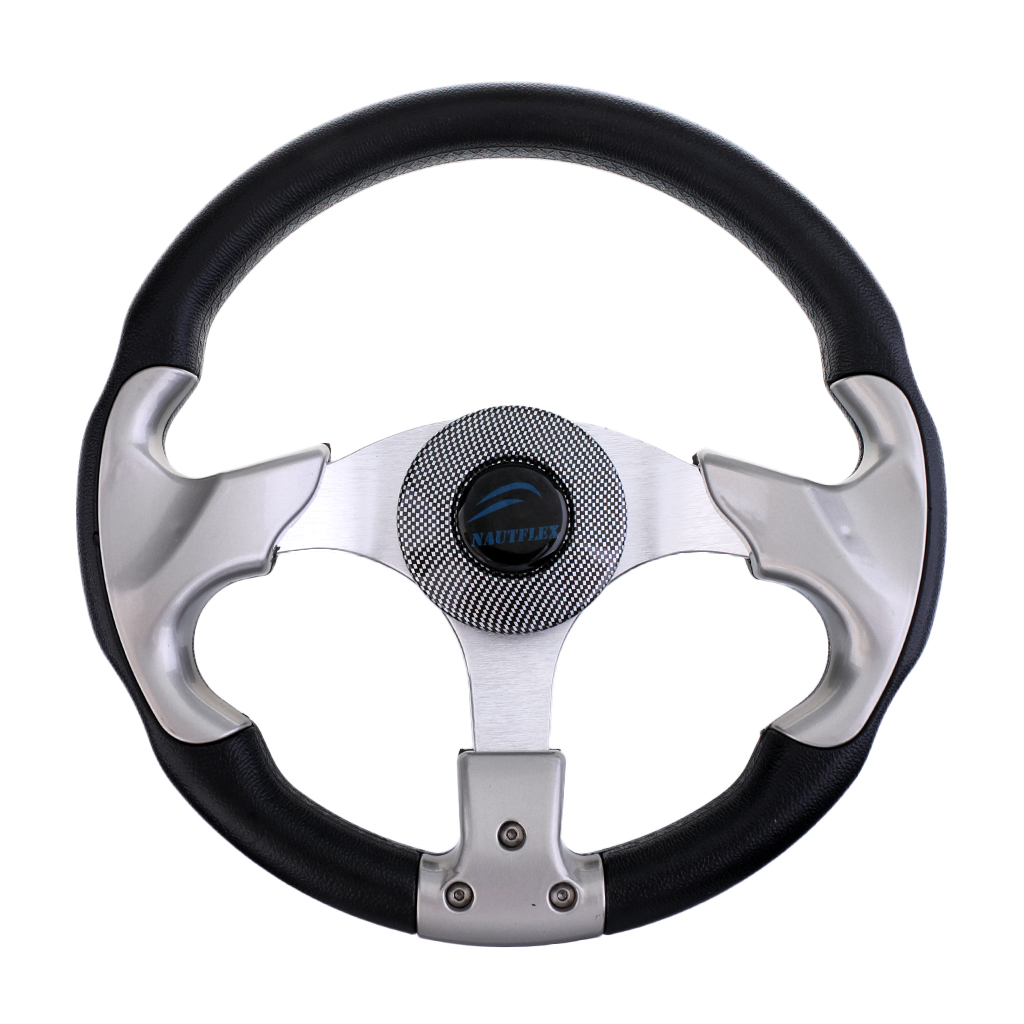 Image 3 - Boat Accessories marine 315mm Aluminum Alloy Marine Boat Pontoon Steering Wheel 3 Spoke Fits 3/4' Shaft-in Marine Hardware from Automobiles & Motorcycles