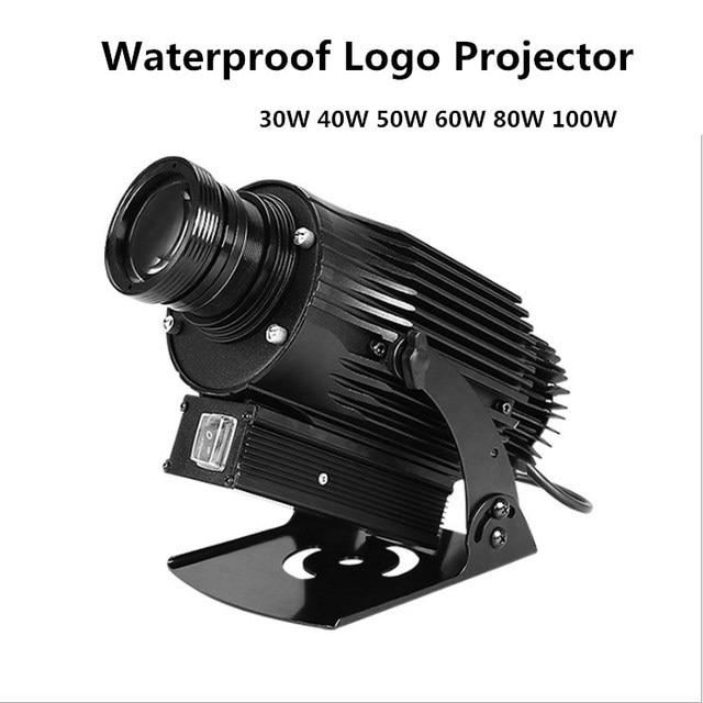 Aluminum Alloy Silver OUTDOOR 4500Lumens Gobo Projector Waterproof 30W 40W 50W 60W 80W 100W Custom Image Projectors Light Image